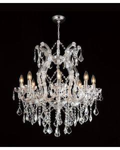 Lighting Paradise ILF2035/9L Chrome 9 Light Maria Theresa Crystal Chandelier