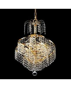 Lighting Paradise 9 Light gold crystal chandelier LP1002 GL - LP1002 GL