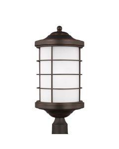 Sea Gull Lighting 8224451EN3 Sauganash 1 Light Post Lantern