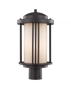 Sea Gull Lighting 8247901 Crowell 1 Light Post Lantern